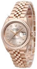 Rolex Lady-Datejust 28 Rosa guldfarvet/18 karat rosa guld Ø28 mm