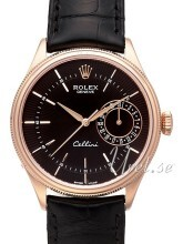 Rolex Cellini Date Sort/Læder Ø39 mm
