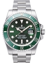 Rolex Submariner Grøn/Stål Ø40 mm