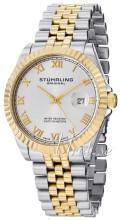 Stührling Original Classic Sølvfarvet/Gul guldtonet stål