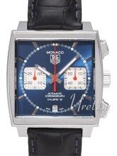 TAG Heuer Monaco Calibre 12 Blue Dial Leather