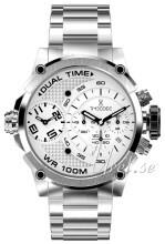 Timecode Hvid/Stål Ø46 mm
