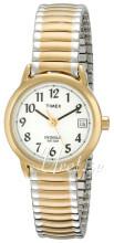 Timex Easy Reader Hvid/Gul guldtonet stål