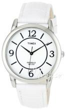 Timex Classic Elevated Hvid/Læder