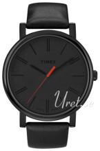 Timex Easy Reader Sort/Læder