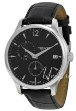 Tissot T-Classic Tradition GMT Sort/Læder