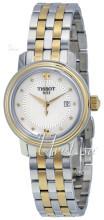Tissot T-Lady Bridgeport Quartz Lady Hvid/Gul guldtonet stål